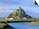 Mont Saint Michel, Unesco World Heritage Site, Manche, Normandy, France Poster by Bruno Morandi