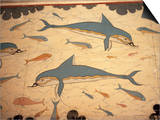 Dolphin Fresco, Knossos, Crete, Greece Posters by James Green