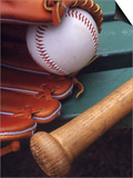 Still Life of Baseball Glove, Ball, and Bat Posters by Mark Polott