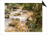 Trout Stream in the Tyrol, 1914 Posters by John Singer Sargent