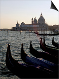 Gondolas and S. Maria Salute, Venice, Veneto, Italy Posters by James Emmerson
