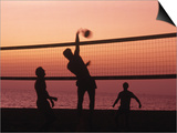 Sunset Beach Volleyball Print by Mitch Diamond