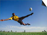 Soccer Player in Action Print