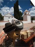 Market Stall in Front of a Church, Uquia, Quebrada De Humahuaca, Argentina Print