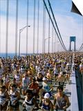 Runners, Marathon, New York, New York State, USA Posters by Adam Woolfitt