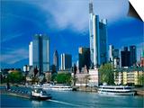 Cityscape of Frankfurt, Germany Kunstdrucke von Peter Adams