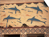 Dolphins, Knossos, Crete, Greek Islands, Greece Posters by G Richardson
