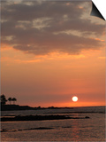 Big Island of Hawaii - Sunset from Beach Posters by Keith Levit