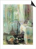 A Hotel Room, 1900 Print by John Singer Sargent