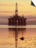 Oil Rig at Dawn, Ross-Shire, Scotland Prints by Iain Sarjeant