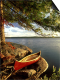 Cedar Canvas Canoe, Canada Art by David Cayless