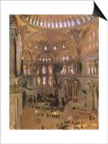 Sketch of Santa Sophia, 1891 Posters by John Singer Sargent