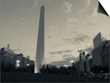 Low Angle View of a Monument, El Obelisco, Plaza De La Republica, Buenos Aires, Argentina Posters