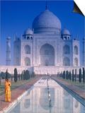 Taj Mahal, Agra, India Kunstdrucke von Peter Adams