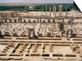 Palace of a Hundred Columns in Foreground with the Apadana Behind, Persepolis, Iran Posters by David Poole