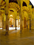 Interior of the Great Mosque (Mezquita) and Cathedral, Unesco World Heritage Site, Cordoba, Spain Posters by James Emmerson