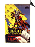 Don Quixote, Spanish Movie Poster, 1934 Art