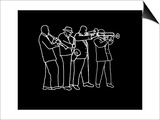 Neon Horn Band New Orleans Style Prints by Rich LaPenna