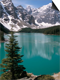 Moraine Lake with Mountains That Overlook Valley of the Ten Peaks, Banff National Park, Canada Prints by Tony Waltham