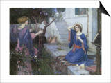 The Annunciation, 1914 Prints by John William Waterhouse