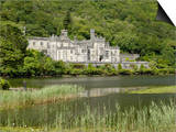 Kylemore Abbey, Connemara, County Galway, Connacht, Republic of Ireland Lámina por Gary Cook