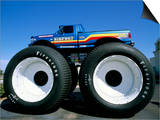 Huge Tyres, Big Foot, Customised Car, USA Prints by John Miller
