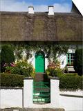 Traditional Cottage Doorway, Stradbally, County Waterford, Ireland Print