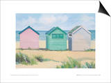 Beach Huts Posters by Jane Hewlett