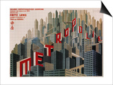 Metropolis, French Movie Poster, 1926 Poster