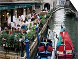 Canalside Restaurant, Venice, Veneto, Italy Art by Michael Short