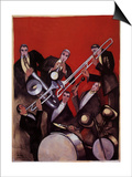 Kings of Jazz Ensemble, 1925 Prints by Paul Colin