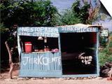 Jerk Chicken Stand, Negril, Jamaica Print by Debra Cohn-Orbach