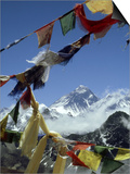 Mount Everest and Prayer Flags, Nepal Art by Paul Franklin