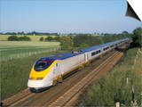 Eurostar Train Travelling Through Countryside Posters by John Miller