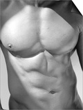 Muscular Shot of Male Chest and Stomach Poster par Rob Lang