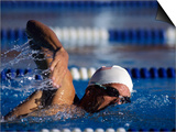 Male Swimmer in Action Posters