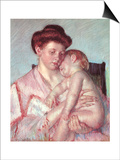 Sleepy Baby, 1910 Print by Mary Cassatt