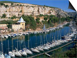 Boats Moored in Harbour, Port Miou, Calanques De Cassis, Bouches Du Rhone, France Posters by Morandi Bruno