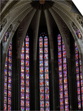 Stained Glass in Sainte-Croix (Holy Cross) Cathedral, Orleans, Loiret, France, Europe Art