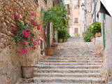 Flight of Steps in the Heart of the Village Fornalutx Near Soller, Mallorca, Balearic Islands, Spai Posters by Ruth Tomlinson