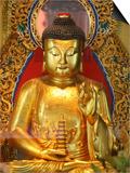 Shakyamuni Buddha Statue in Main Hall, Po Lin Monastery, Tung Chung, Hong Kong, China, Asia Posters