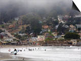 Surfers at Linda Mar Beach, Pacifica, California, United States of America, North America Posters by Levy Yadid