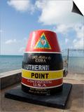 Old Buoy Used as Marker for the Furthest Point South in the United States, Key West, Florida, USA Prints by  R H Productions