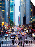 42nd Street in Mid Town Manhattan, New York City, New York, United States of America, North America Posters by Gavin Hellier