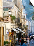 Street in Taormina, Sicily, Italy, Europe Posters by Levy Yadid