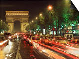 Avenue Des Champs Elysees and the Arc De Triomphe, Paris, France Poster by Alain Evrard