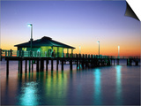 Fishing Pier at Sunrise, Fort de Soto Park, FL Prints by David Davis