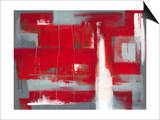 Red Abstract Poster by Leigh Banks