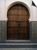 Door in the Quartier Des Andalous, Medina, Fes El Bali, Fez, Morocco, North Africa, Africa Prints by Bruno Morandi