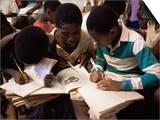 Children in School in Espungabera, Mamica Province, Mozambique, Africa Plakater af Liba Taylor